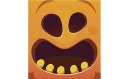 Verschrikking, gelukkige Halloween-vrees Pompoenillustratie stock illustratie