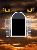 Verschrikking in nacht stock illustratie