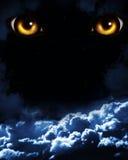 Verschrikking in nacht Royalty-vrije Stock Foto's