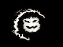 Verschrikkings kwaad gezicht op zwarte achtergrond Royalty-vrije Stock Afbeelding