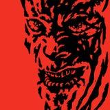Verschrikkingsgezicht van het monster Vector illustratie royalty-vrije illustratie