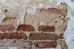 Verschrompelde oude muur Stock Afbeelding