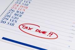 Verschuldigde belasting Stock Afbeelding