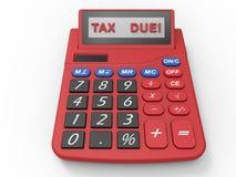 Verschuldigde belastinguiterste termijn royalty-vrije illustratie