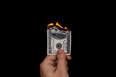 Verschwendung des Geldes Lizenzfreies Stockfoto