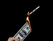 Verschwendung des Geldes Stockfotos