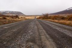 Verschwindener Schotterweg Stockfoto