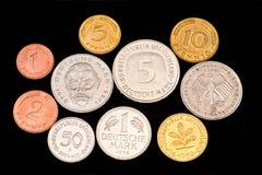 Verschwundene coin-W.Germany Markierung Lizenzfreie Stockbilder