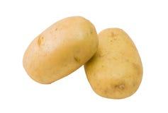 Verse aardappels op witte achtergrond Stock Foto's