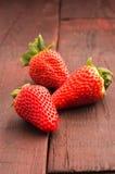 Verse aardbeien royalty-vrije stock afbeelding