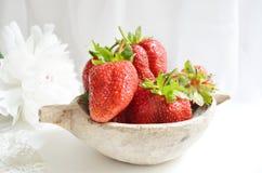 Verse aardbeien Stock Afbeelding