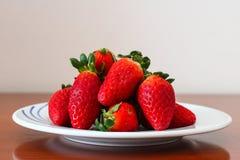 Verse aardbeien Stock Foto