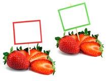 Verse aardbeien met exemplaarruimte Royalty-vrije Stock Afbeelding
