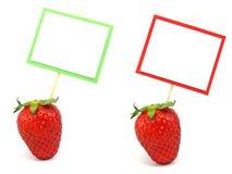 Verse aardbeien met exemplaarruimte Royalty-vrije Stock Afbeeldingen
