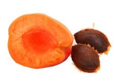 Verse abrikozen en rijp fruit stock afbeeldingen