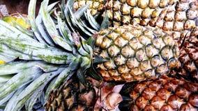 Verse ananas in een fruitwinkel royalty-vrije stock afbeelding