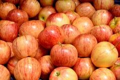 Verse appel in stadsmarkt royalty-vrije stock foto