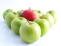 Verse appelen op een witte achtergrond Stock Foto