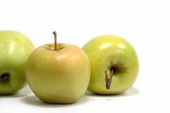 Verse appelen op een witte achtergrond? Stock Foto