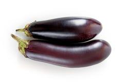 Verse aubergine op een wit Royalty-vrije Stock Afbeeldingen