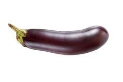 Verse aubergine op een wit Stock Fotografie