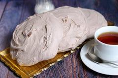 Verse bakkerij en hete thee Stock Afbeelding