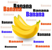 Verse bananenvector Stock Afbeelding