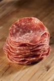 Verse Besnoeiings Organische Salami Stock Afbeeldingen