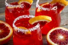 Verse Bloedsinaasappel Margaritas royalty-vrije stock foto