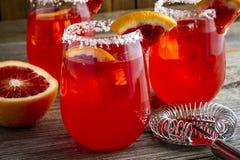 Verse Bloedsinaasappel Margaritas stock afbeelding