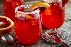 Verse Bloedsinaasappel Margaritas royalty-vrije stock afbeeldingen