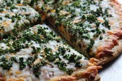 Verse Boerenkool op Pizza Stock Fotografie