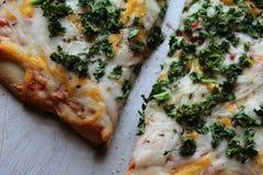 Verse Boerenkool op Pizza Royalty-vrije Stock Afbeelding
