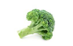 Verse broccoli die op wit worden geïsoleerde Stock Fotografie