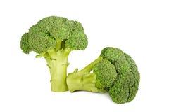 Verse broccoli die op witte achtergrond worden geïsoleerdl Royalty-vrije Stock Afbeelding