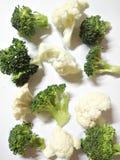 Verse broccoli en bloemkool Royalty-vrije Stock Foto