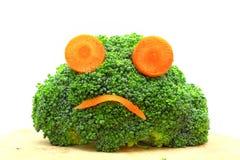 Verse broccoli en wortel Stock Afbeelding