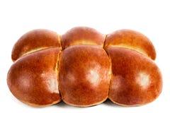 Verse broodjes op een witte achtergrond Stock Afbeelding