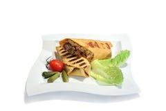 Verse burrito met rundvlees Royalty-vrije Stock Afbeelding
