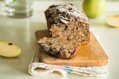 Verse cake met appel en kaneel Royalty-vrije Stock Afbeelding