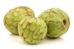 Verse cherimoya vruchten (Annona cherimola) Stock Afbeelding