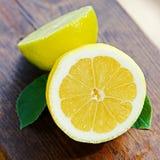 Verse citroen en kalk Royalty-vrije Stock Foto's