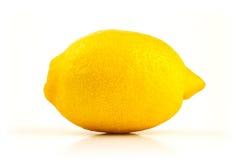Verse citroen op wit Stock Afbeelding