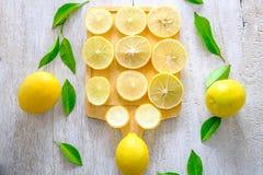Verse citroenachtergrond royalty-vrije stock foto's