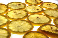 Verse citroenachtergrond Royalty-vrije Stock Afbeelding