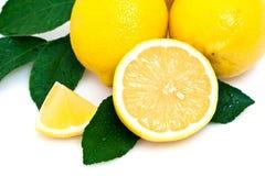 Verse citroenen Royalty-vrije Stock Foto's