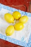 Verse citroenen Stock Afbeelding
