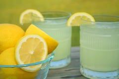 Verse Citroenen en Limonade Royalty-vrije Stock Afbeeldingen