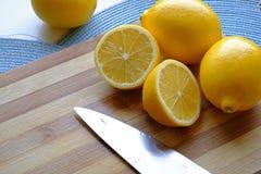 Verse citroenplakken in landschapsgewas Royalty-vrije Stock Afbeelding