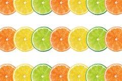 Verse citrusvruchtenachtergrond Stock Foto
